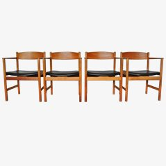 Model 3235 Chairs by Børge Mogensen, Set of 4