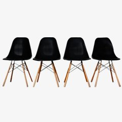 DSW Chairs by Charles & Ray Eames for Vitra, Set of 4