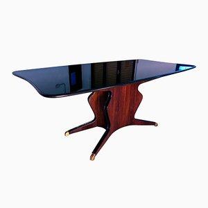 Tavolo da pranzo in mogano di Osvaldo Borsani per Atelier Borsani Varedo, anni '50