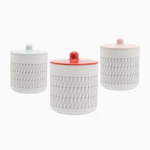 Colour Porcelain: Set of Three Containers by Scholten & Baijings