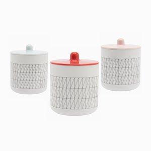 Juego de 3 contenedores Colour Porcelain de Scholten & Baijings
