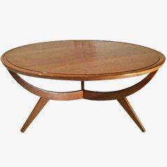 Vintage Mollino Style Low Table