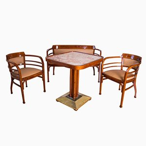 Antique Dining Set by Otto Wagner for Gebrüder Thonet Vienna GmbH, 1904