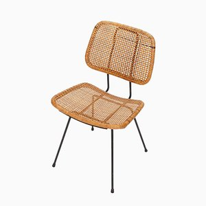 Mid-Century Rattan Chair by Dirk Van Sliedrecht for Rohé Noordwolde, 1950s