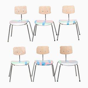 Silber und Neon Chairs by Markus Friedrich Staab, Set of 6