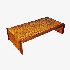 Rosewood & Jacaranda Coffee Table by Percival Lafer