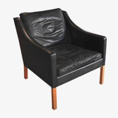 Leather Armchair by Borge Mogensen for Fredericia, 1963