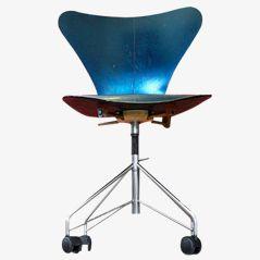 Vintage 3107 Drehstuhl von Arne Jacobsen für Fritz Hansen
