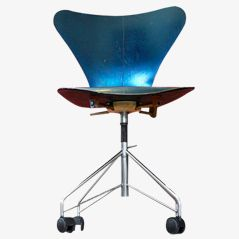 Vintage 3107 Swivel Chair by Arne Jacobsen for Fritz Hansen