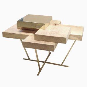 Pixel Table en Chêne et en Laiton - Prototype par Ilia Potemine