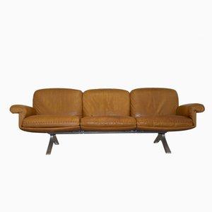 Cognacfarbenes Vintage DS 31 Drei-Sitzer Ledersofa von De Sede