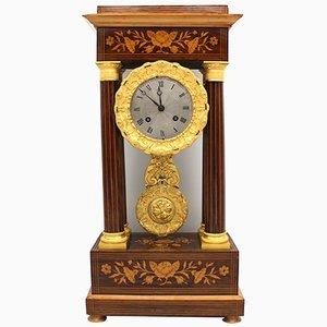 19th Century Charles X Pendulum Portico Clock
