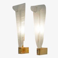 Sconces by Martinuzzi & Buzzi for Venini, 1940s, Set of 2