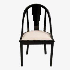 Chaises de Salon Vintage Noires
