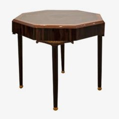 Vintage Octagonal Side Table, 1920s