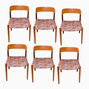 Modell 75 Stühle von Niels O. Møller für J.L Møllers, 1960er, 6er Set