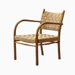 Modell 1459 Sessel aus Buche von K. Scröder für Fritz Hansen, Denmark, 1930er