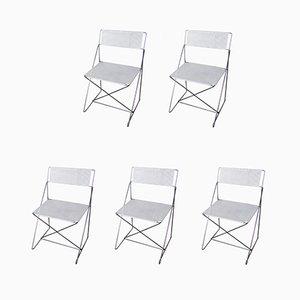Chaises de Salon X-Line par Niels J. Haugesen pour Hydoban, 1970s, Set de 5