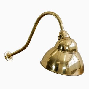 Vintage English Brass Spotlight Sconce, 1920s