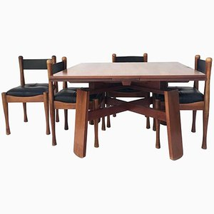 Dining Table with Four Chairs by Silvio Coppola for Bernini, 1960s