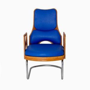 Skandinavischer Sessel aus Sperrholz & Skai, 1960er