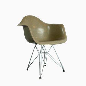 Vintage Armlehnstuhl in Grau/ Beige von Charles Eames für Zenith