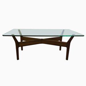 Table Basse en Verre et Teck,1955