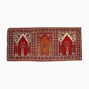 Vintage Turkish Handmade Prayer Rug, 1960s