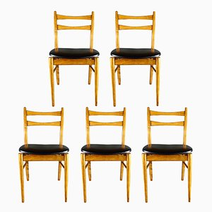 Chaises de Salon Mid-Century, Danemark, Set de 5