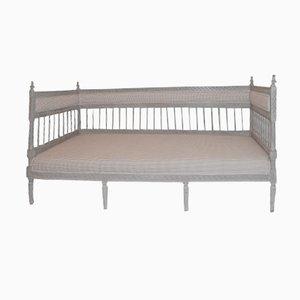Sofá cama sueco vintage gris
