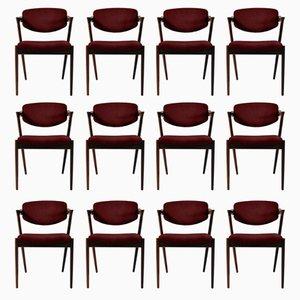 Personalisierbare Esszimmerstühle aus Palisander von Kai Kristiansen, 12er Set
