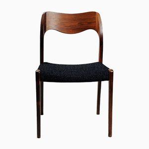 Customizable Model 42 Dining Chairs by Kai Kristiansen for Schou Andersen, Set of 6 in Dark & Light Grey