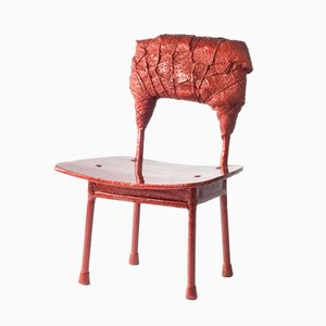 Chinese Stools - Made in China, Copied by the Dutch 2007, Red Stool from Studio Wieki Somers