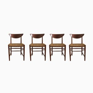 Mid-Century Model 316 Teak Dining Chairs by Hvidt & Mølgaard-Nielsen for Søborg, 1960s, Set of 4