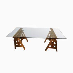 Leonardo Trestle Table by Achille Castiglioni, 1940s