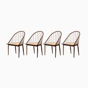 Chaises Curva de Joaquim Tenreiro, 1960s, Set de 4