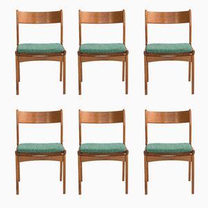 Personalisierbare dänische Stühle aus Teak, 6er Set