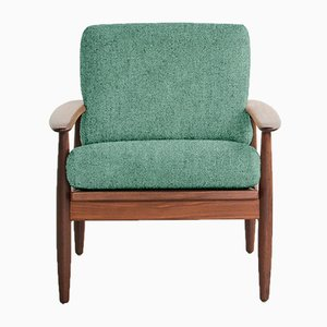 Customizable Vintage Danish Easy Chair in Solid Teak