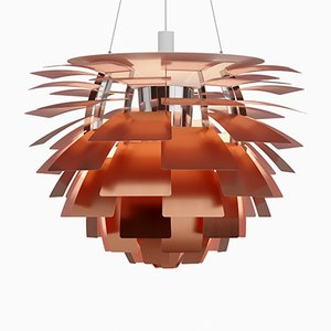 Mini PH Artichoke Lamp in Copper & Rose by Poul Henningsen for Louis Poulsen, 2018