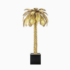 Lámpara de pie en forma de palmera de Atelier Techoueyres para Maison Charles, años 70