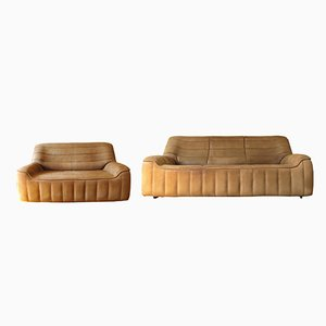 DS-84 Buffalo-Neck Leather Sofas from de Sede, 1970s, Set of 2