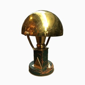Vintage Brass Table Lamp by Paul Dupré Lafon for Hermès