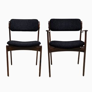 Customizable Vintage Models OD49 & OD50 Chairs by Erik Buch for O. D Møbler A.S, Set of 4