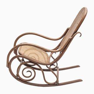 Rocking Chair Antique en Roseau par Michael Thonet pour Thonet