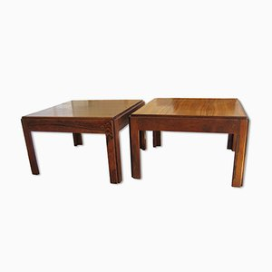 Plexus Rosewood Side Tables by Illum Wikkelso for CFC Silkeborg