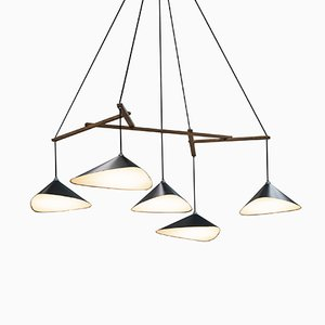 Emily Group of Five Semi Matte Pendant by Daniel Becker