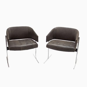 Vintage Senior Armchairs by Jorge Zalszupin, Set of 2