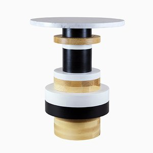 """Sass Side Table Tall with 16"""" Marble Top by MPGMB for Souda"""