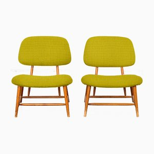 Customizable Te-Ve Easy Chairs by Alf Svensson for Ljungs Industrier, 1950s, Set of 2