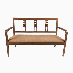 Customizable Art Deco Wooden Bench